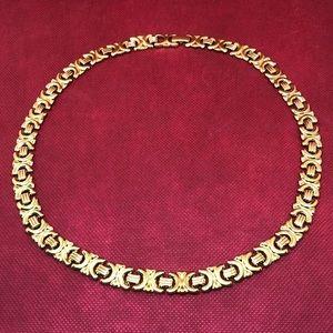 "🆕Vintage Avon Gold 20"" Flat Link Collar Necklace"